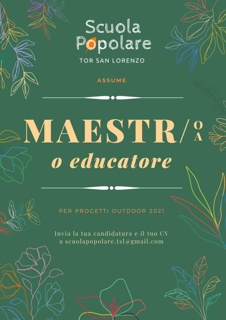 Scuola Popolare Tor San Lorenzo progetti outdoor 2021